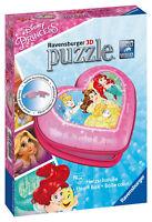 12114 Ravensburger Disney Princess Heart Shaped 3D Jigsaw Puzzle 54pc Age 8 Year