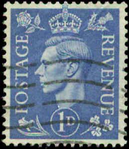 Great Britain Scott #281v Used  Inverted Watermark
