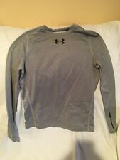 Under Armour Youth XL Cold Gear Fitted Gray Athletic Shirt