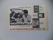 advertising Pubblicità 1961 RADIOMARELLI FRIGORIFERI/TELEVISORI/RADIO