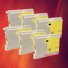 6 LC51 YELLOW INK FOR BROTHER MFC-230C 240C 3360C 440CN