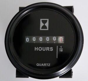 Round DC Hour Meter 6 - 80 Volt