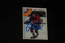 PIERRE LAROUCHE 1978-79 TOPPS SIGNED AUTOGRAPHED CARD #35 CANADIENS