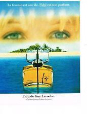 PUBLICITE ADVERTISING  1990  GUY LAROCHE  parfum FIDJI