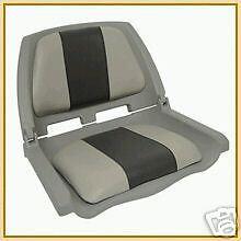 Folding Padded Boat Seat Grey - Grey/Charcoal - NEW