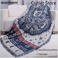 Vintage Constellation Cotton Throw Blanket Knitting Tassel Blankets Tapestries
