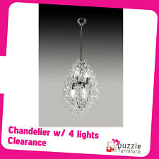 Luxurious Style Delicate Chandelier with 4 light head - Brand New in box