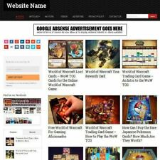 TRADING CARDS STORE - Professionally Designed Affiliate Website For Sale +Domain