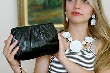 Judith Leiber SIMPLE KARUNG LIZARD HANDBAG Bag CLASSIC BLACK Purse CLUTCH