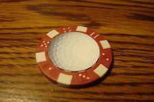 GOLF BALL Photo Image Dice design Poker Chip,Golf Ball Marker, Card Guard