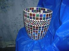 Bath Bed and Beyond Mosaic Bathroom Waste Basket Multi-color Bath Accessory New