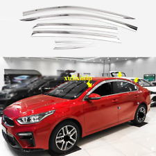 6X For Kia 2019-2020 Forte Sedan Chrome Window Visor Vent Shades Sun Rain Guard