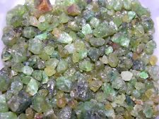 Garnet green mixed grade natural mine rough crystal Mali,Africa 1/8 pound lots