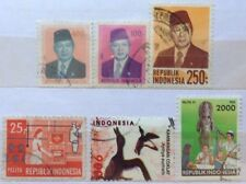 Indonesia Used Stamps - 6 pcs Assorted Stamps (B)