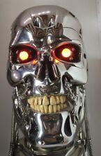 TERMINATOR T-800 JUDGEMENT DAY SKULL Endoskeleton Lights & Sounds Life size