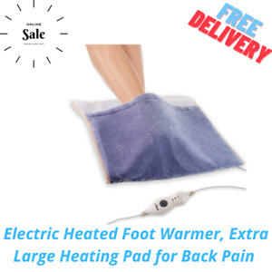 Electric Heated Foot Warmer, Extra Large Heating Pad for Back Pain