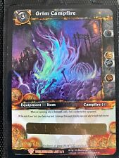 World Of Warcraft WOW TCG: Grim Campfire Loot Card