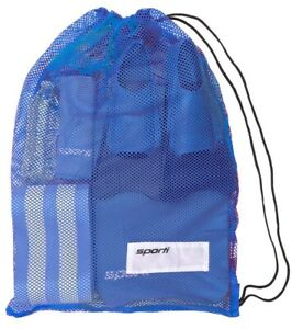 Sporti Mesh Swim Equipment Bag -Blue