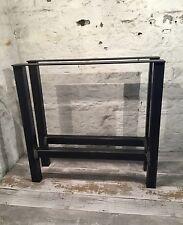 2 fatto a mano H-Frame in ACCIAIO GREZZO upcycle Grande tavolo da pranzo gambe stile industriale