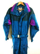 Couloir Mens Vintage Ski Suit Teal Purple One Piece Snow Snowsuit Size 42