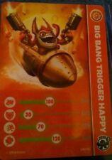 Big Bang Trigger Happy Skylanders Swap Force Stat Card Only!
