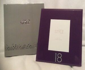 """Purple Photo Frame - 18 Design - 4""""X 6"""" - Brand New And Boxed"""