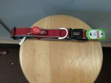 "(New) KONG Comfort & Reflective Padded Dog Collar Size XL 20""-28""  Red"