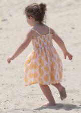 Vestidos amarillos de 100% algodón para niñas de 0 a 24 meses
