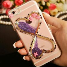 Bling Glitter flowers Dynamic Quicksand back Soft Phone Case Cover For Huawei 2