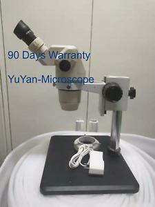 Used Good Olympus SZ6045 SZ60 microscope with stand,light,10x/22 eyepieces