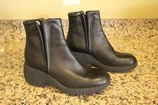 FREE LANCE Women's Black Leather Ankle Wedge Boots Size 36.5/6.5 (bota1400