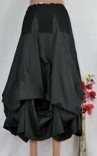 LEINS Designer Rock Gothic Romantik Gerafft Ballon Lagenlook Schwarz 44 46 48