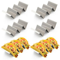 6pk California Home Goods Taco Holders Tray Stand Stainless Steel Oven Grill