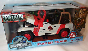 Jurassic World JP Staff Jeep Wrangler - New - opening parts - Jada 1/24 97806
