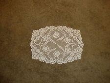 New White lace Dutch Garden design  Doily/Placemat 19 x 14