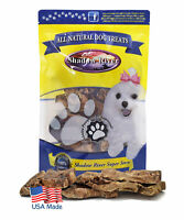 Shadow River Lamb Choppies Dried Lung Dog Treats USA Made Thick & Crunchy 8 oz