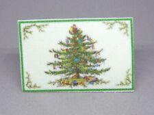 Vintage Christmas Flocked Door Mat Rug Dollhouse Miniature 1:12