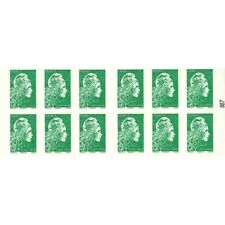 CARNET MARIANNE VERTE D'YSEULT 12 TIMBRES