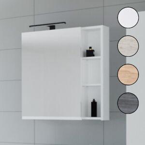 Planetmöbel Badezimmermöbel Badmöbel Spiegelschrank 70cm mit LED Beleuchtung