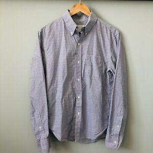 BAND OF OUTSIDERS Mens Blue/Red Graph Check Button Down Casual Shirt M USA Made