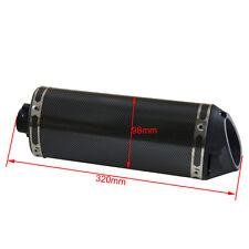 38mm Carbon Black Exhaust pipe Muffler Clamp Motorcycle Street Dirt Bike Pit Pro