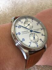 43mm PARNIS white dial power reserve Folding clasp automatic mens watch
