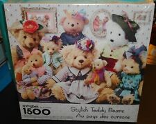 SEALED Vintage Springbok Puzzle Stylish Teddy bears 1998 has 1500 pieces