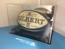 Full Size RUGBY BALL Display CASE Any Name & Colour UK Manufacturer