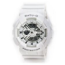 Casio BA110-7A3 Womens Baby-G Analog-Digital Dial White Resin Band Quartz Watch