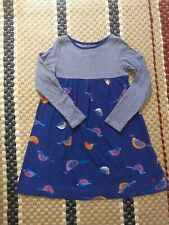 Joules girls blue dress with birds 7-8