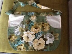 Apron - vintage floral material