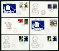 Iceland Stamps Collection of 1975 to 1985 First Day Covers FDC