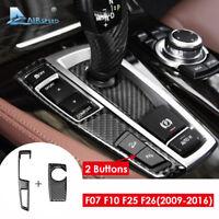 For BMW F07 F10 X3 F25 X4 F26 LHD Carbon Fiber Car Gear Shifter Panel Cover Trim