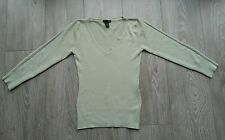 Pull vert clair manches 3/4 H&M taille XS